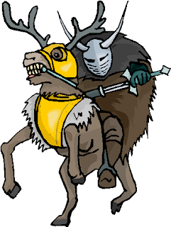Warrior Ride A Deer Fantasy Clipart