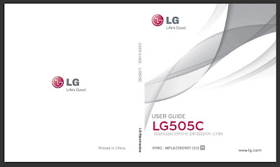 LG 505C Manual Cover