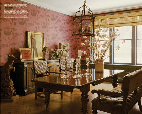 Dining room in home of Keith Johnson and Glen Senk of Anthropologie