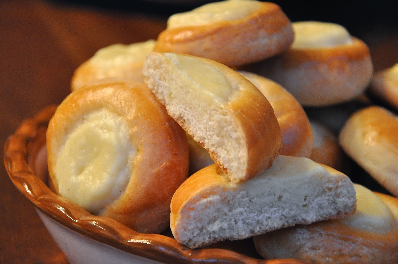 Sophias sweets cream cheese kolache when i researched czech sweets kolache came up over and over again they are essentially small rolls with centers that have been hollowed out and stuffed ccuart Choice Image