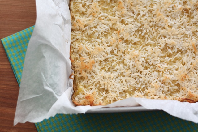 Pineapple Coconut Bars recipe by Barefeet In The Kitchen