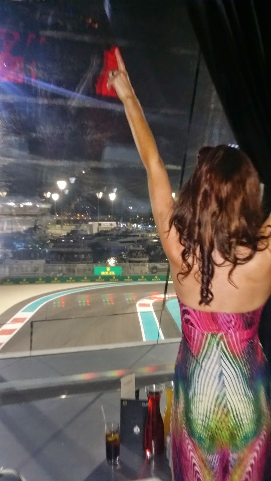 Haylan Halls view from Viceroy Hotel for F1 Qualifying