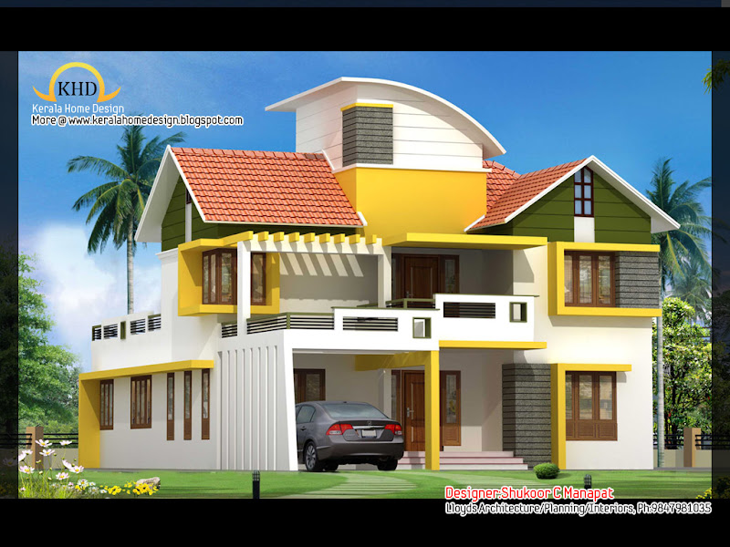 Labels: Contemporary , Contemporary Home Designs , kerala home plans  title=
