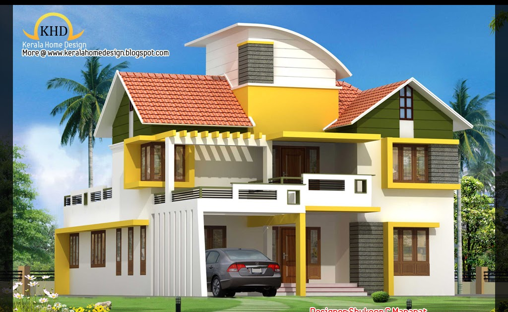 Floor Front Elevation Ymca : Sq ft contemporary and kerala style architecture