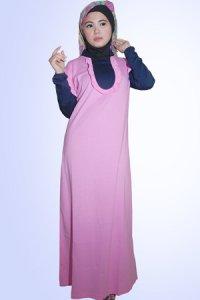 Idmonia Gamis 12 - Pink (Toko Jilbab dan Busana Muslimah Terbaru)