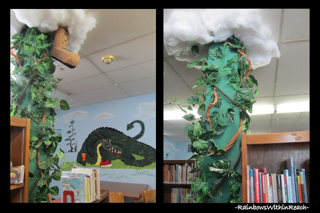 """Going to the Library"" Mural and 'decorated' environment in Public Library"