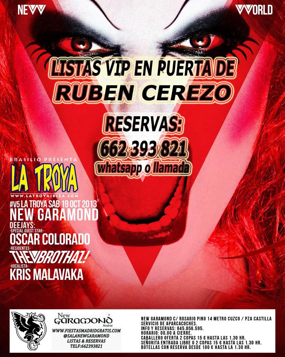 """NEW GARAMOND SÁBADO, 19 DE OCTUBRE: LA TROYA (FIESTA DE IBIZA) EN """"V"""""""