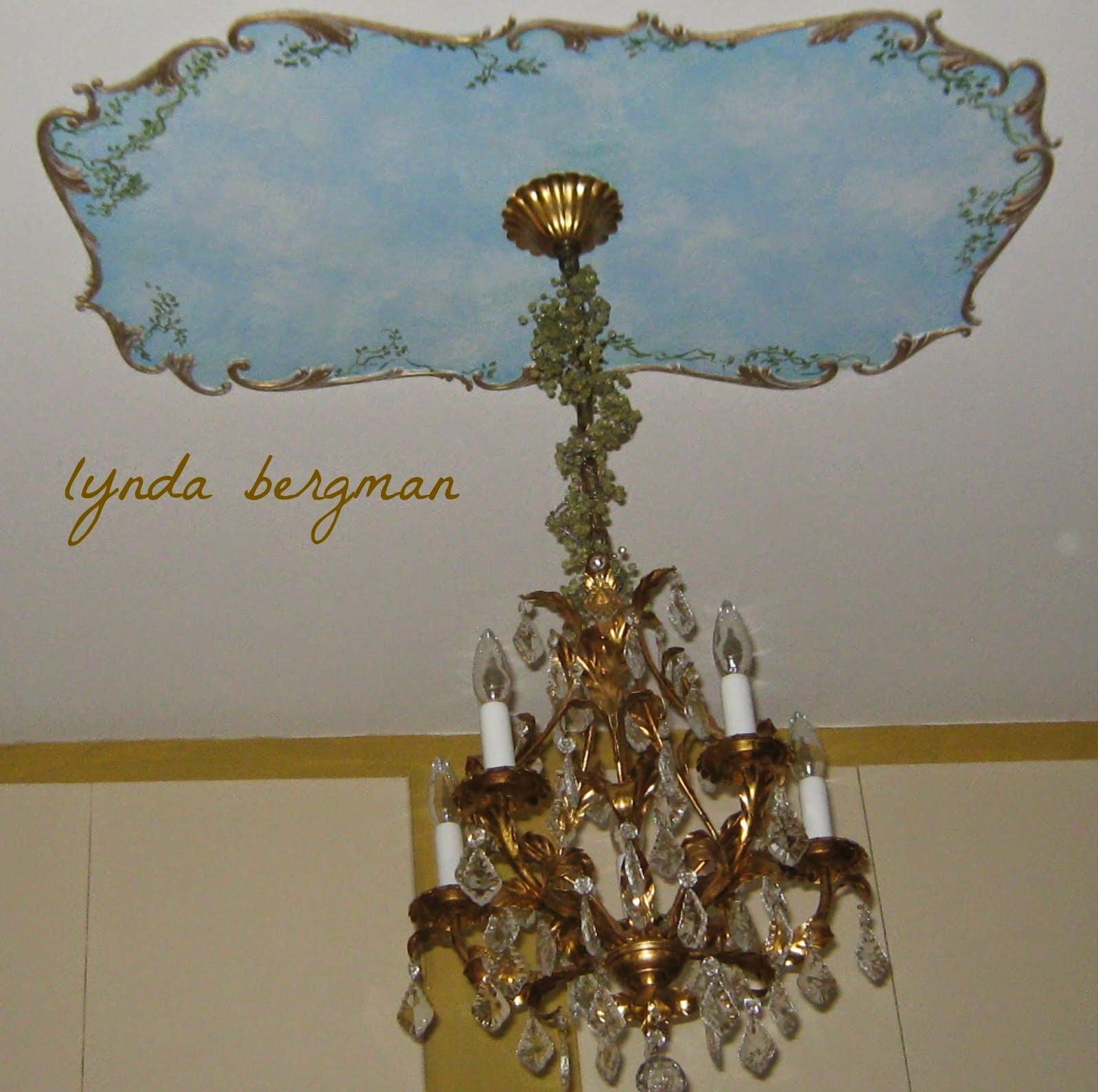 Lynda Bergman Decorative Artisan shared her Designing Painted Sky Ceiling featured at One More Time Events.com