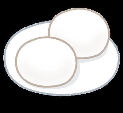 丸餅のイラスト