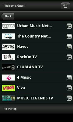 Android TV App - Music Channels