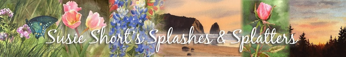 Susie Short&#39;s Watercolor Splashes &amp; Splatters