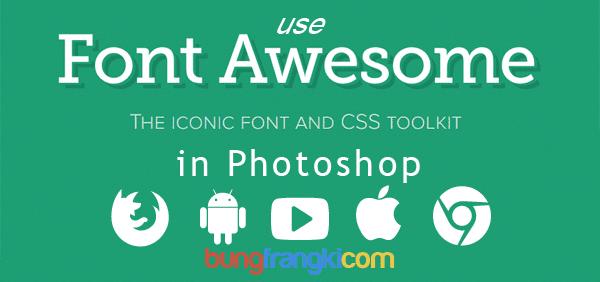Cara Terbaru Menggunakan Icon Font Awesome di Photoshop