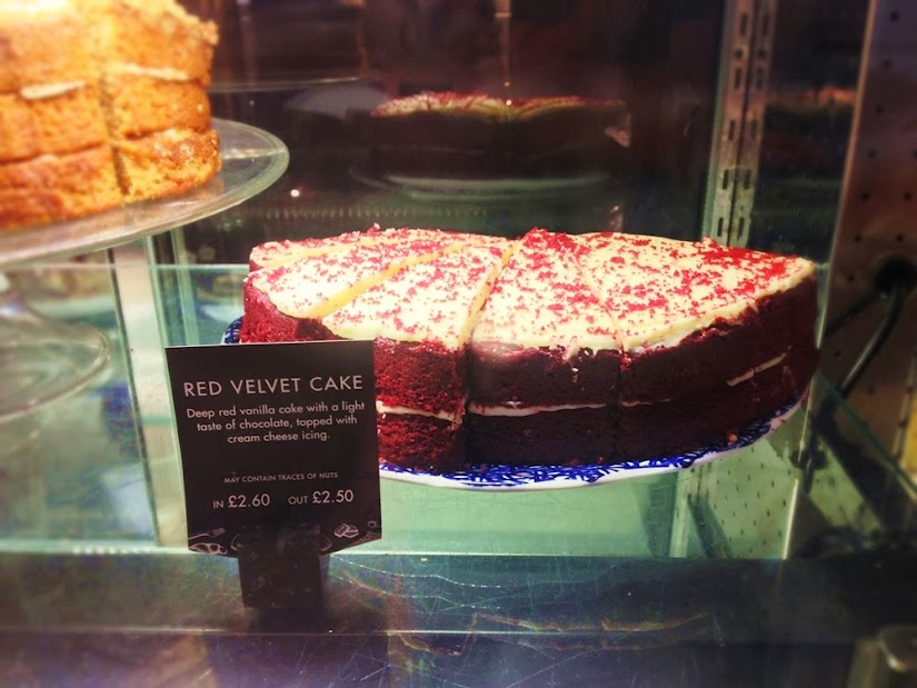 Red Velvet Cake at Caffe Nero