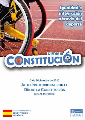 Cartel del Acto Institucional por el Día de la Constituión.