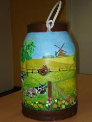 Milchkannen-Malerei