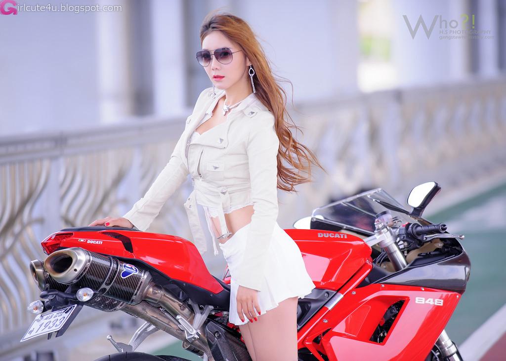 Jo Ye Jin and Ducati ~ Cute Girl - Asian Girl - Korean