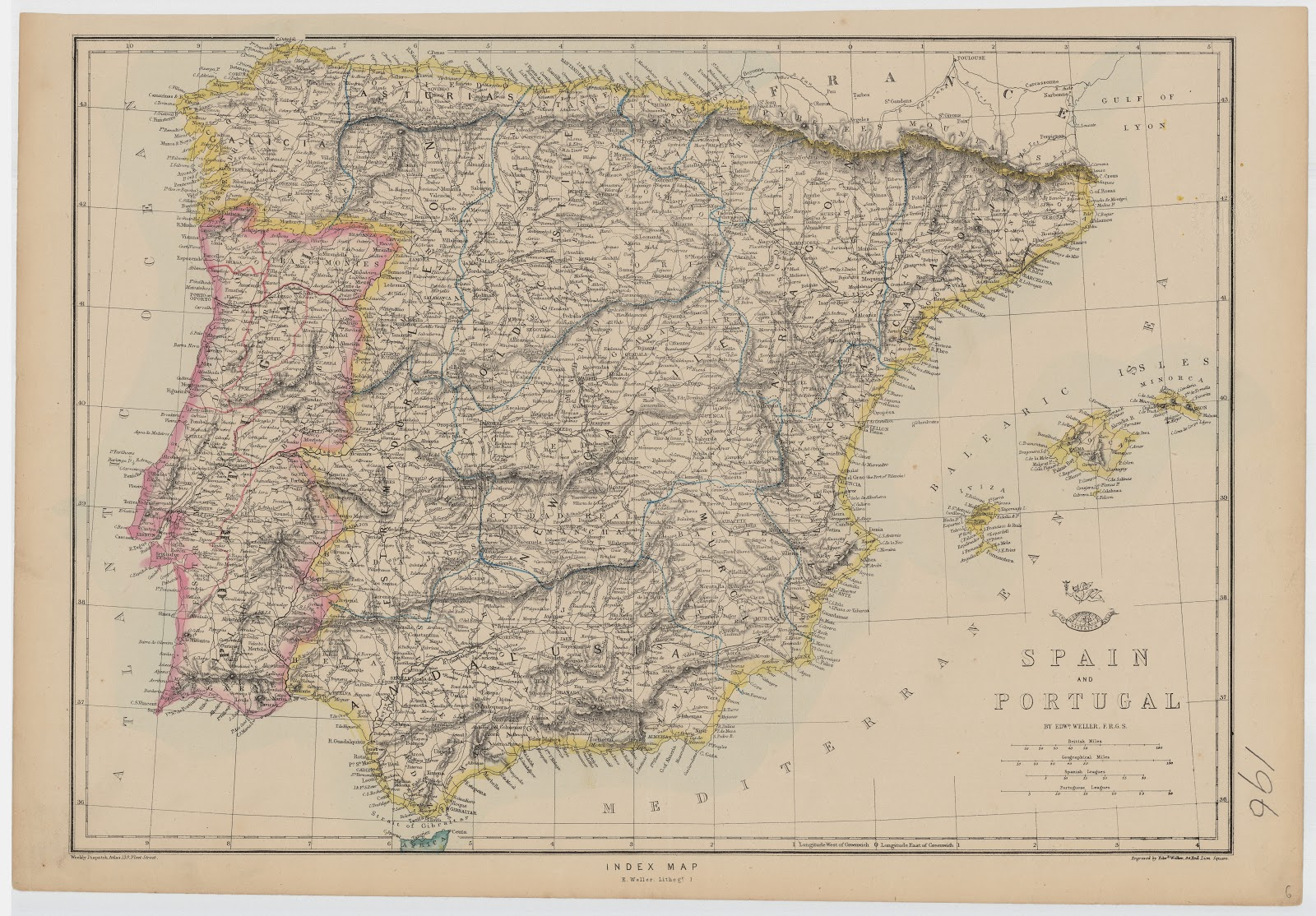 España y Portugal, Edward Weller 1870