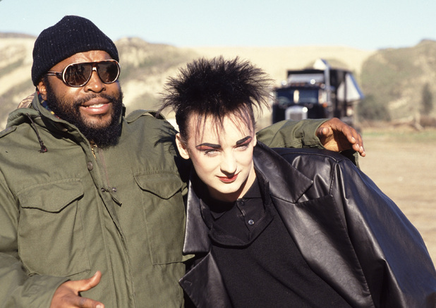 Mr T And Boy George On The Set Of A Team Episode Cowboy 1986