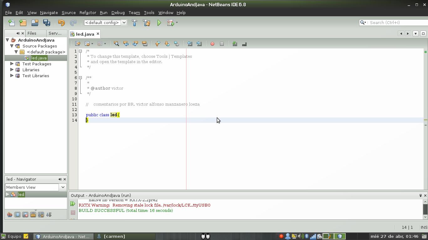 Java al maximo primer tutorial arduino desde