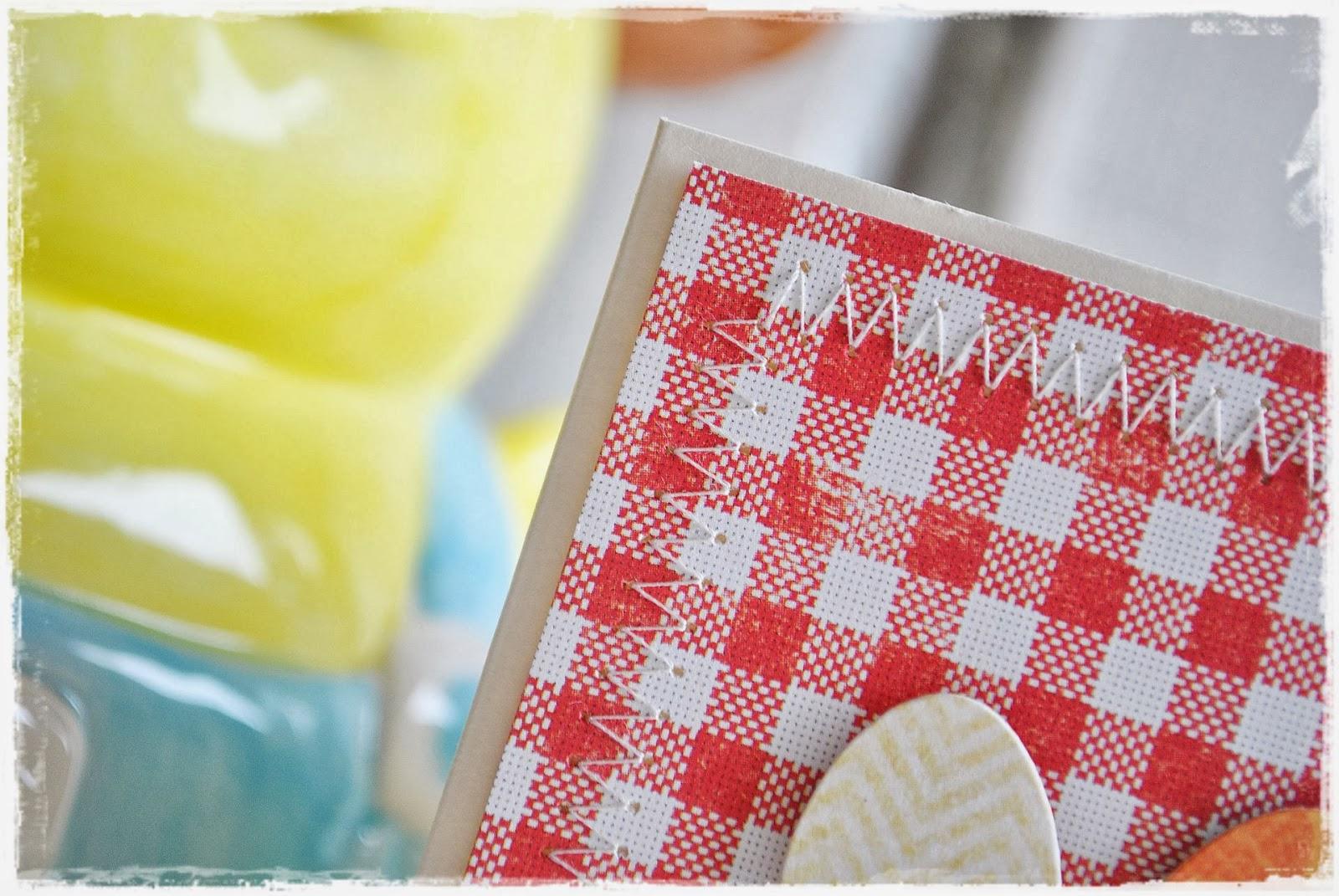 kartka wielkanocna z jajkami scrapbooking