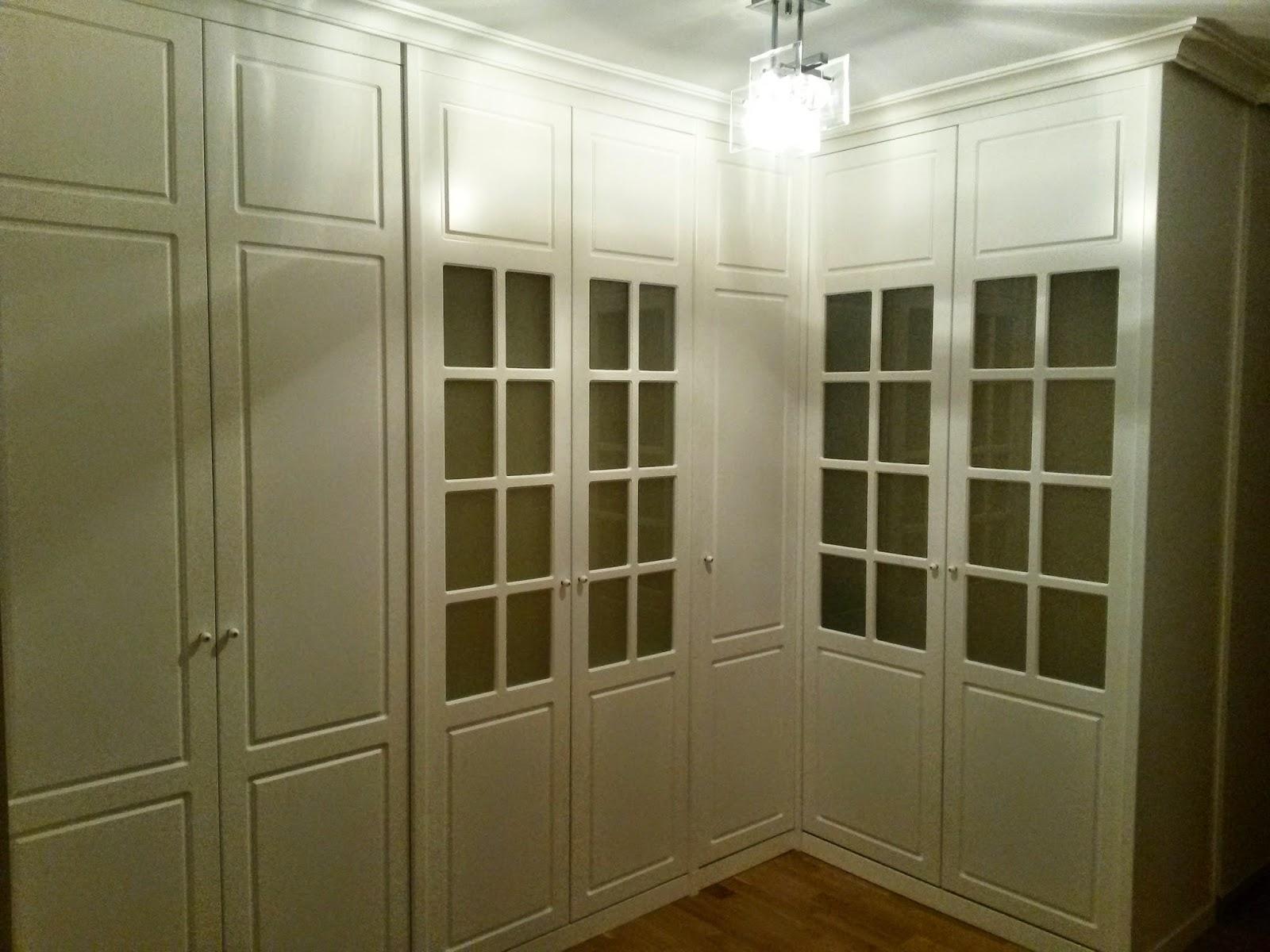 Muebles a medida armario en l con puertas pantografiadas y lacadas en blanco - Armario en l ...