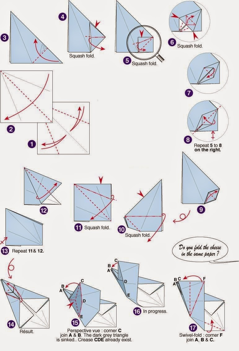 Origami Rat Instructions Origami Flower Easy