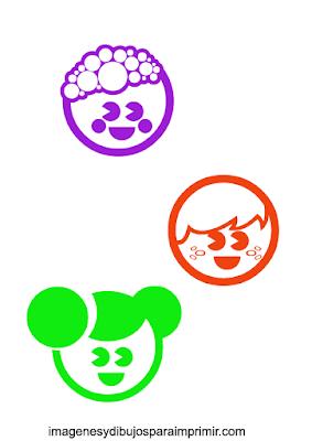 Caras de niños y niñas para imprimir