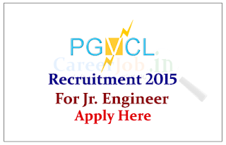 Paschim Gujarat Vij Company Limited Recruitment 2015 for the post of Junior Engineer