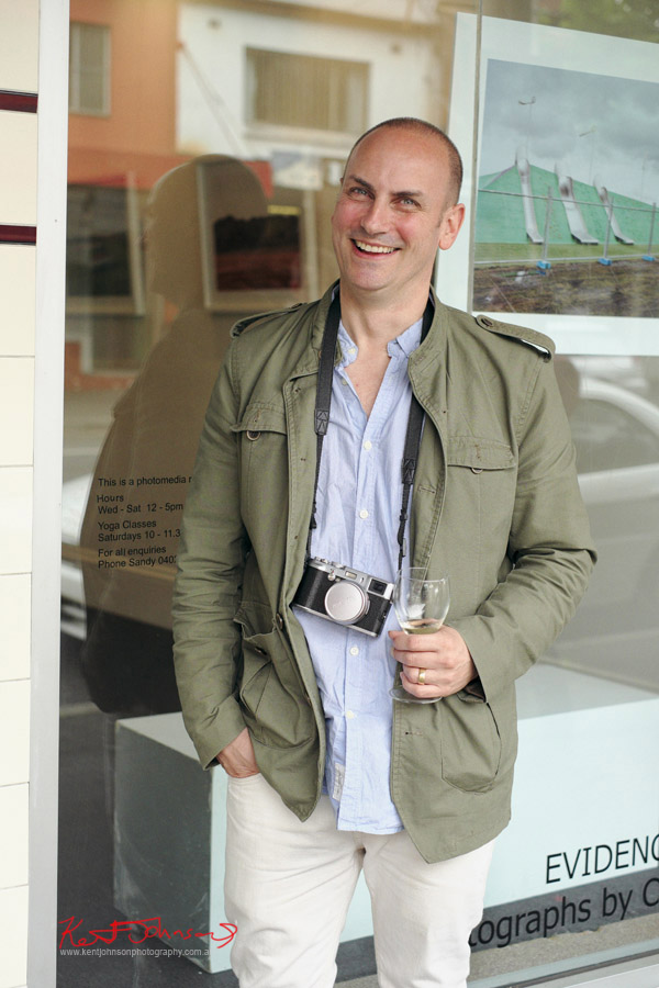 Artist Portrait, photographer Chris Round his show 'Evidence' at ARTHERE gallery Redfern.