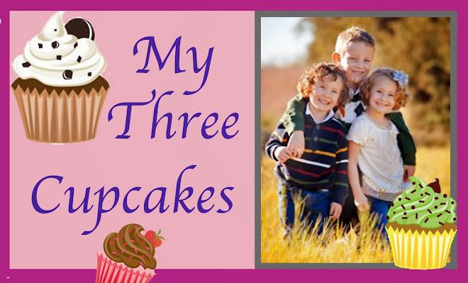 My 3 Cupcakes: Harmon, Rachel & Callum