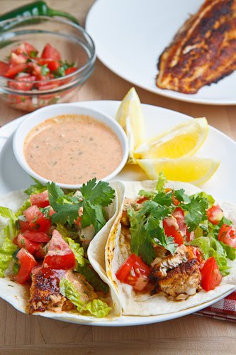 Blackened Catfish Tacos