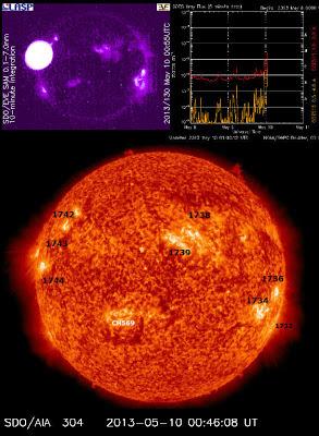LLAMARADA SOLAR M3.9, EL 10 DE MAYO 2013