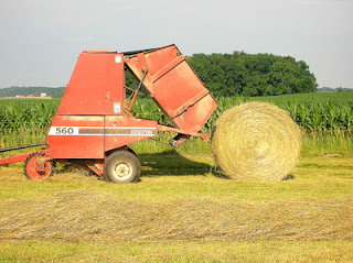 round bale of hay 6