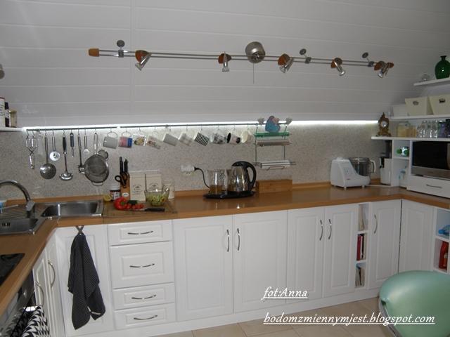 Zmienny dom Odsłona kuchni część robocza