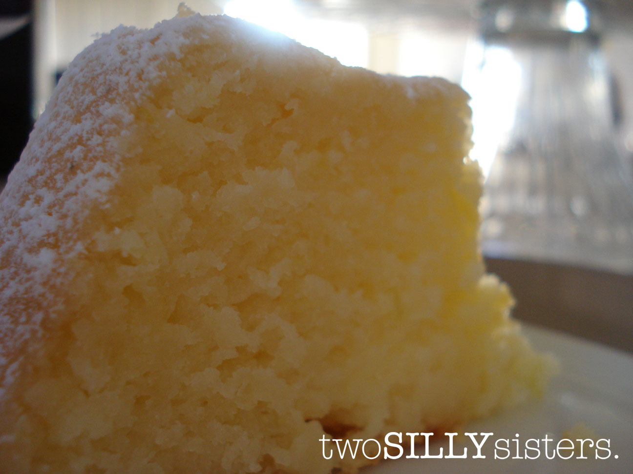 Two Silly Sisters: Gluten Free Lemon Yoghurt Cake