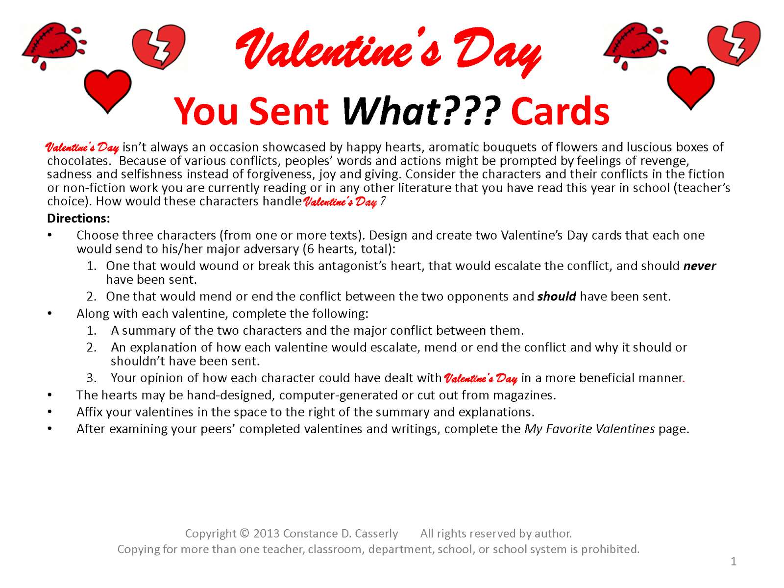 Activity: Valentine's Day You Sent What??? Cards