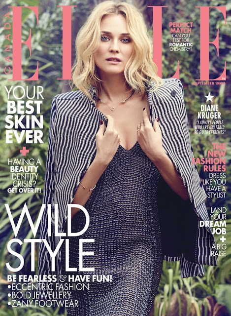 Actress, Model @ Diane Kruger for Elle Canada September 2015