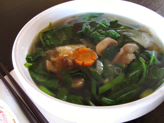 of ozouni japanese new year soup to ring in 2012 clear mushroom broth ...