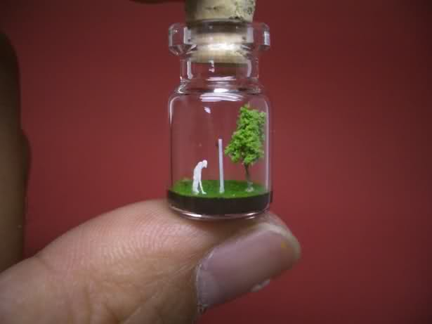amazing tiny bottle artwork