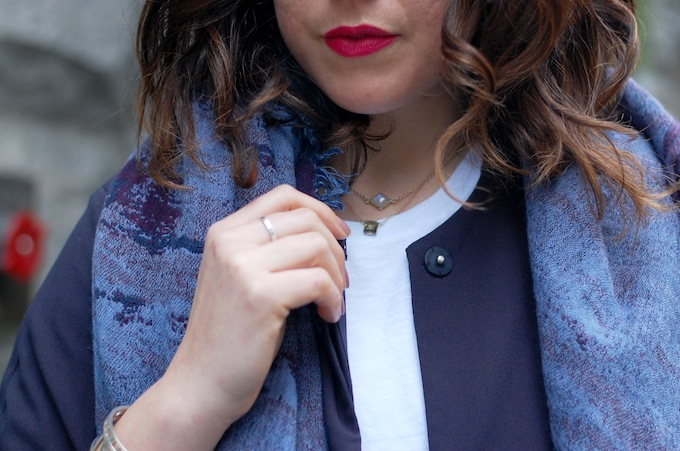 Aritzia blanket scarf outfit idea all-white look Vancouver fashion blogger