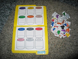 Bugs in a Jar (Colors) File folder Game