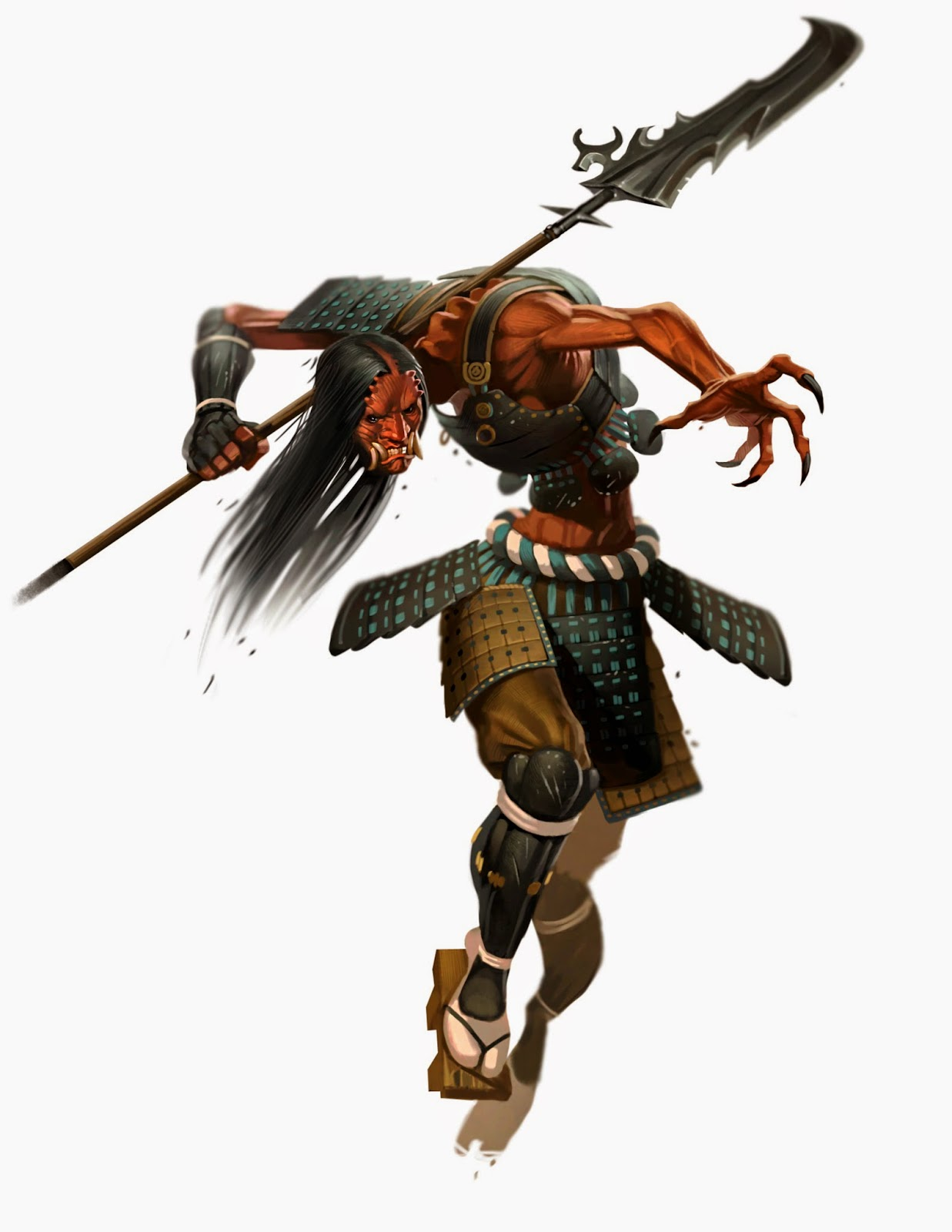 the art of Eric Belisle: Oriental Creatures for Paizo's ...