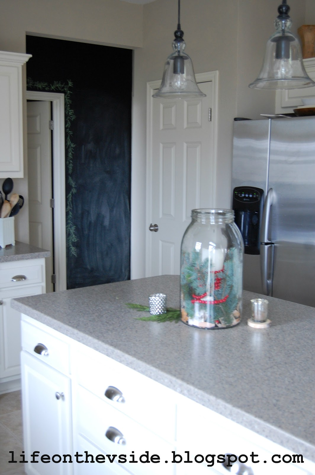 On the V Side: Kitchen Before & After [Painted Kitchen Cabinets]
