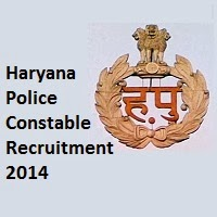 Haryana police recruitment 2014 for consable post