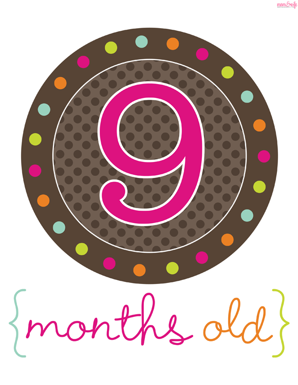 Free Baby Projects Free Printable Month Signs For Photo