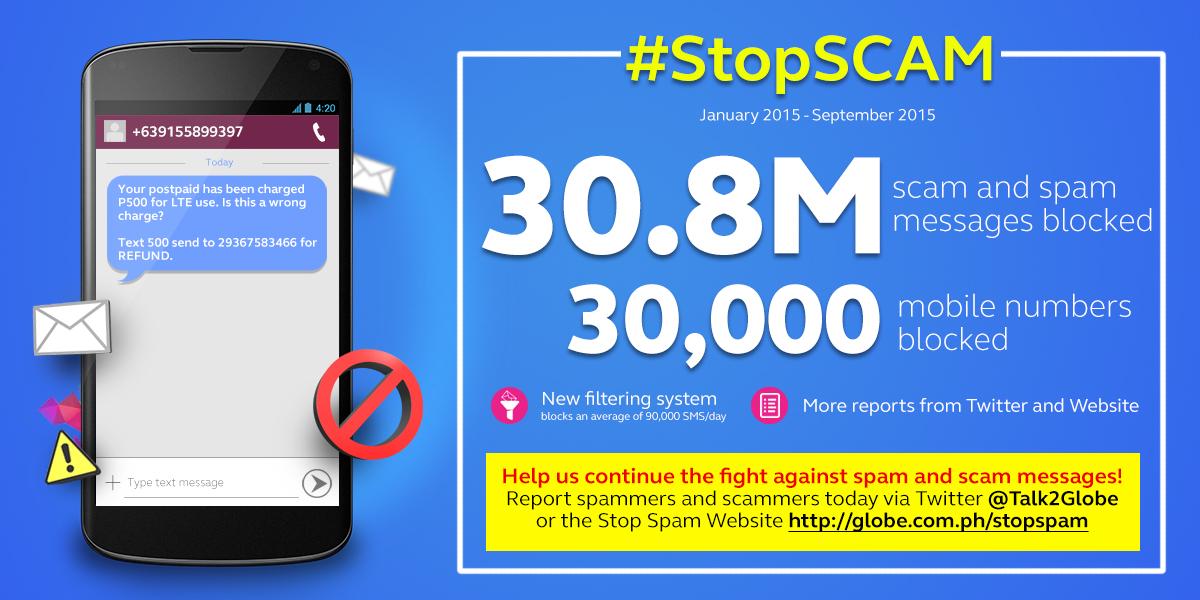 Globe Stop Scam Campaign
