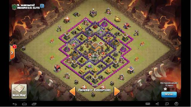 Base Town Hall 8 Clan War