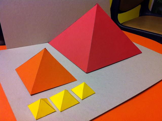 how to make a mini pyramid of giza model