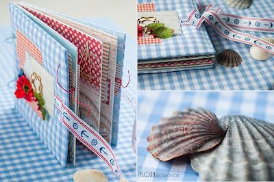 дизайнерская бумага, скрап альбом морской, первое море малыша, храним воспоминания красиво