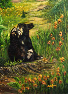 Bears - Oil on Canvas  by Laura Curtin